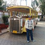 Hotel's tour bus in ground