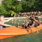 Reef being taken out by kayak