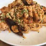 Seafood pasta with a kick
