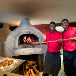 Wood fired pizza's at La Cantina Restaurant
