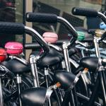 The Black Rental Bikes with colored bells