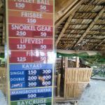 rental fees as advertised