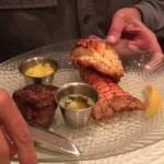 surf and turf with the petite filet mignon (can order a larger filet)