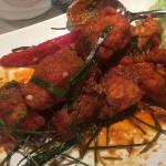 the dry red salmon curry
