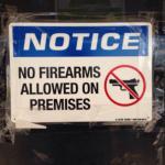 No Guns allowed at Mumphord's BBQ.