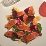 Plat - saumon en coute