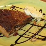 Pecan tart with clotted cream
