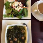 Side salad and Italian wedding soup