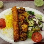 Chicken combo 1/2 salad 1/2 rice