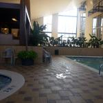 Indoor pool next to hot tub