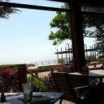 View from ocean view room and restaurant