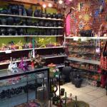 Juan sells Alibrijes (beautiful Oaxaca wood carvings), barro negro (Oaxaca black clay pottery) a