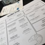 A look at the menu