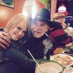 My love & I enjoying dinner and a margarita!
