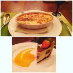 Lasagna and Tiramisu.