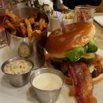 Cardinal burger and fries