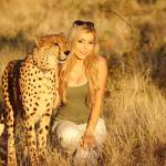 My favorite picture from our entire month long safari is this one with Sylvester the Cheetah!