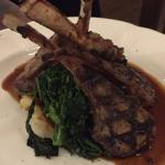 Fantastic wine and rack of lamb all on the recommendation Melanie.