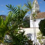 vue sur l'église du carmen depuis la terrasse