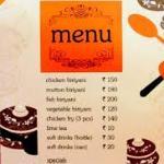Ajwa menu cum price card in 2015...