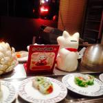 Conveyor belt and kawaii Japanese decorations =^_^=