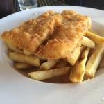 "Bountiful and well made fish and chips ... Not the frozen kind ... Atlantic cod and ""homemade"" c"