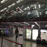 The store is actually inside Termini station, at the entrance, not in front of it as shown on th