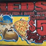 Swedish pizza and burgers. BYOB.