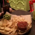 So of the basics in life - chips guacamole salsa and a margarita. Simple and done really well. A