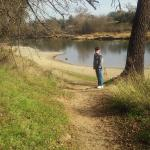 Walk the trail to the river