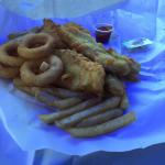 Rig (shark) calamari rings and chips