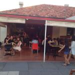 Great to eat this wonderful in a semi-outdoor setting. This is my second review - can't get enou