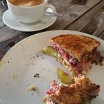'Bronx' toastie and a latte