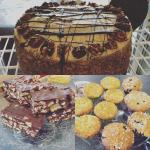 Selection of our fresh cakes made in the shop