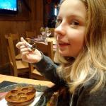 Catriona enjoying L'escargots