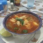 Awesome seafood soup.