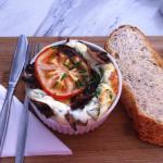 Baked egg white ricotta omelette