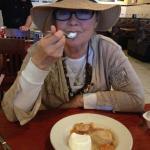 Home made peach cobbler - GREAT!!!
