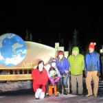 My tour group at the Arctic Cicle. -17f night were were there. 1st Alaska Outdoor School.