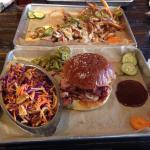 Smokey chick burger and slaw