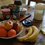 Une partie du petit déjeuner