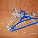 The hangers provided in our room.