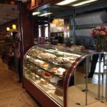 Interior pastry display case