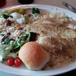 flounder filet lunch special, Zorba's, Columbia, SC, Feb 2016
