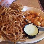1/2 and 1/2 Appetizer Option (Cheese Curds & Onion Frills)
