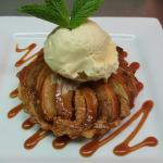 Honey Roasted Pear and Almond Tart