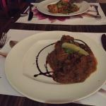 This was first time I saw an Indian restaurant serving main curry in Dish