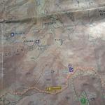 Abdul's map shows the nearby towns and trails; this is hard to come by and invaluable.