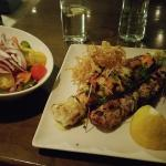 My Mixed Souvlaki and Side Salad at Cape Greko