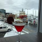 Jam Jam Martini and a glimpse of the harbour view!